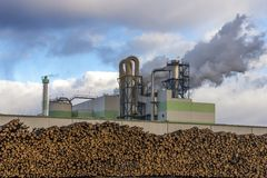 Paper and pulp mill. In Kunda, Estonia Royalty Free Stock Photo