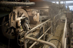 Paper and pulp mill plant - Fourdrinier Machine Royalty Free Stock Photos