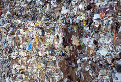 Paper and pulp mill plant - Paper recycling Royalty Free Stock Photos