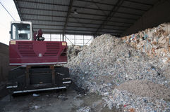 Paper and pulp mill plant - Paper recycling Royalty Free Stock Image