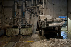 Paper and pulp mill plant - Pulping area Royalty Free Stock Photos