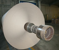 Paper and pulp mill plant - Rolls of cardboard Royalty Free Stock Photos