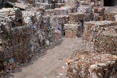 Paper and pulp mill - Waste paper Royalty Free Stock Photo