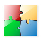 Paper Puzzle Royalty Free Stock Photography