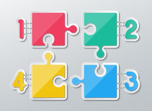Paper puzzle infographics Royalty Free Stock Photos