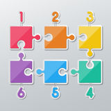 Paper puzzle infographics stock illustration