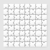 Paper Puzzle Stock Photography