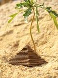 Paper pyramid Royalty Free Stock Image