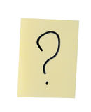 Paper with question mark Stock Photos