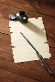 Paper and quill Stock Photo