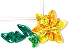 Paper Quill Flower Royalty Free Stock Images