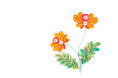Paper quilling,colorful paper flowers Royalty Free Stock Photos