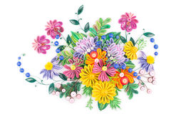 Free Paper Quilling,colorful Paper Flowers Stock Images - 75330024