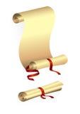 paper röd bandscroll Arkivfoton