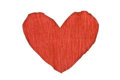 paper röd form för hjärta Arkivbild