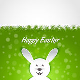 Paper rabbit Easter card Stock Photography