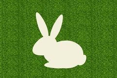 Paper rabbit over green grass Stock Photography