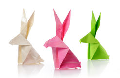 Paper rabbits Stock Photos
