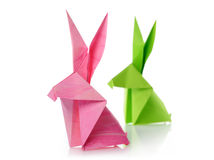 Paper rabbits Royalty Free Stock Photography