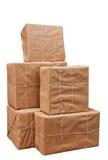 paper rad för bruna packar som binds upp Royaltyfri Bild