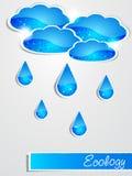 Paper rain Stock Photo