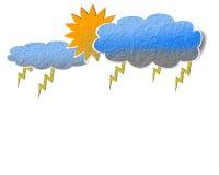 Paper rain cloud. Royalty Free Stock Image