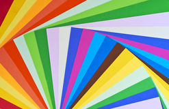 Paper rainbow. Mix of divers colour sheet Royalty Free Stock Image