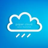 Paper rainy cloud Stock Images