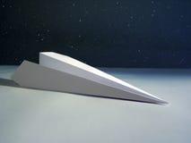 paper raket Arkivfoto