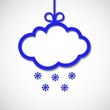 Paper ram för text med snowflaks och kupa Arkivfoto