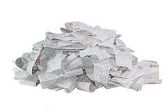Paper Receipt Pile stock photography