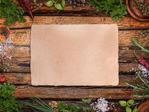 Paper for recipes Royalty Free Stock Image