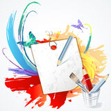 Paper for records colorful background Stock Photo