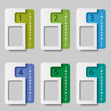 Paper rectangle infographic options Stock Photo
