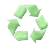 Paper Recycle logo concept Stock Photography