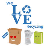 The paper recycle poster Stock Images