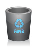Paper recycle trashcan Stock Photography