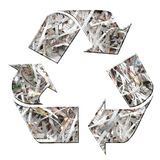 Paper recycling. Three arrow paper recycling symbol Stock Images