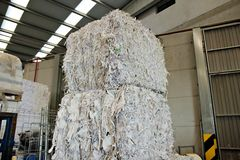 Paper recycling concept stock images