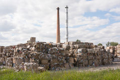 Paper recycling factory Stock Images