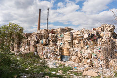 Paper recycling factory Stock Photo