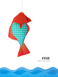 Paper red blue fish Stock Image