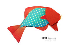 Paper red blue fish Stock Photos