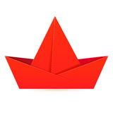 Paper red boat. Stock Photos