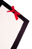 Paper with Red Bow Stock Images