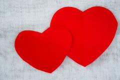 paper red för hjärta Fotografering för Bildbyråer