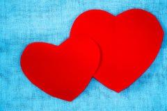 paper red för hjärta Royaltyfri Bild