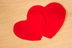 paper red för hjärta Royaltyfria Foton