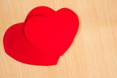 paper red för hjärta Royaltyfria Bilder