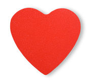 Paper red heart Stock Image